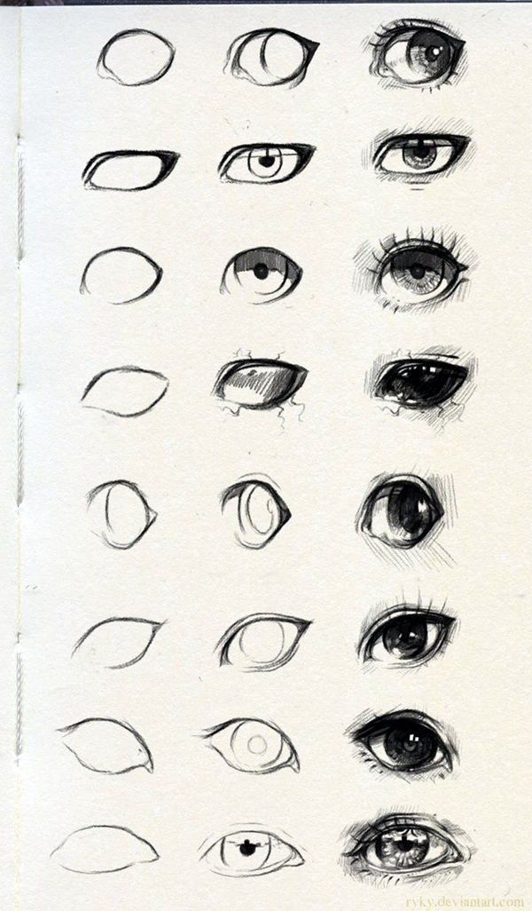 How To Draw An EYE - 40 Amazing Tutorials And Examples - Bored Art | How To Draw An EYE - 40 Amazing Tutorials And Examples - Bored Art