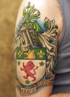 english coat of arms tattoo - photo #37