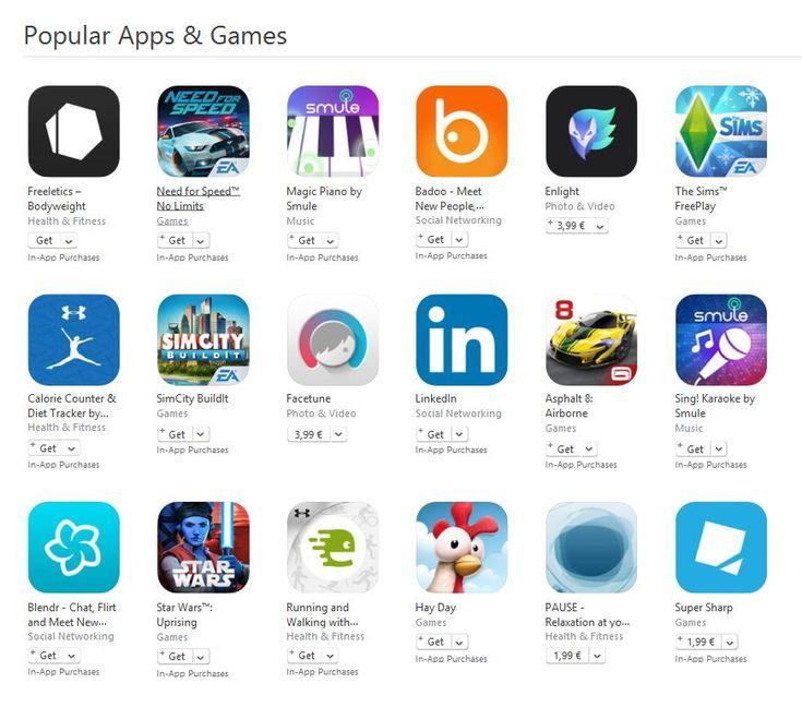 Cele mai populare jocuri si aplicatii recomandate de Apple | iDevice.ro