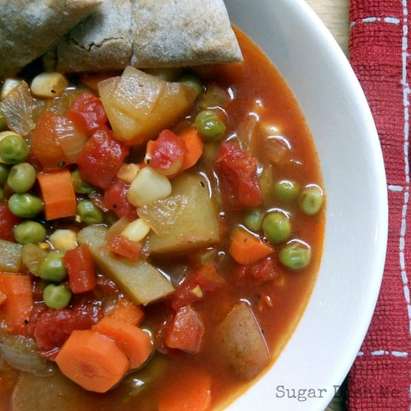 Easy Homemade Fresh Vegetable Soup - my #1 recipe for 2 years running! Healthy, cheap, and delicious!