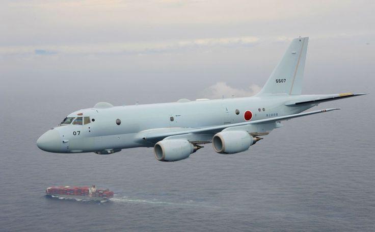 O Kawasaki P-1 pode carregar até 9 toneladas de bombas, mísseis e torpedos em missões de até 20 horas de duração (Foto - Marinha do Japão)