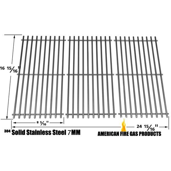 3 PACK STAINLESS STEEL COOKING GRID FOR MASTER CHEF 85-3004-2, T420, CENTRO 2000, G40205 GAS GRILL MODELS Fits Compatible Master Chef Models : T420LP, 85-3004-2, 85-3005-0, 85-3062-2, 85-3063-0, G45101, G45102, G45104, G45105, G45123, G45124, S420LP, T420, T440 Read More @http://www.grillpartszone.com/shopexd.asp?id=33978&sid=26071