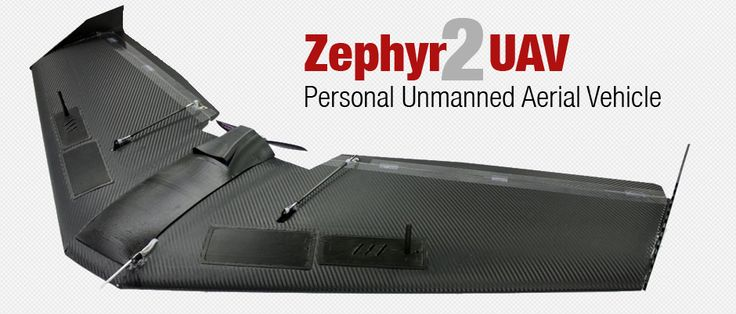 The Zephyr UAS is an electric powered flying wing that is flown autonomously through it's own onboard autopilot system. An Inertial Measurement Unit (IMU) provides stabalization for the aircraft. GPS navigation is used to guide the aircraft to it's destination. The UAV is landed autonomously via point and click on the included Ground Control Software. Optionally you may land the UAV with the included RC controller for those with experience flying RC airplanes.