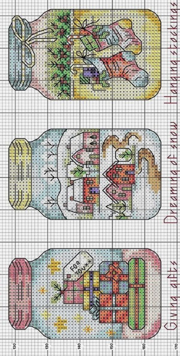 Christmas Mason Jar Scenes Cross Stitch Patterns Christmas Xmas Cross Stitch Cross Stitch Christmas Ornaments