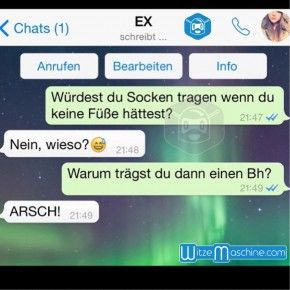 """Lustige WhatsApp Bilder und Chat Fails - An die Ex: """"Warum trägst du einen BH?"""""""