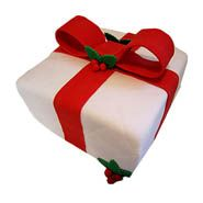 Gift shape cake