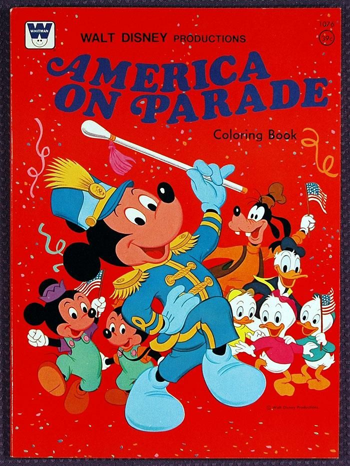 Walt Disney Productions AMERICA ON PARADE Coloring Book 1976