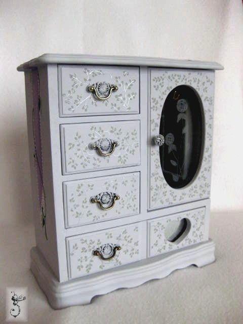 hand painted jewelry box