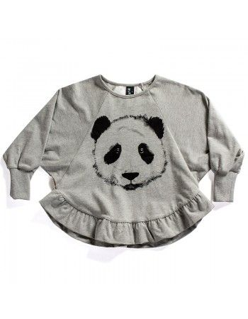 Minti | Painted Panda - Crew - Grey Marle