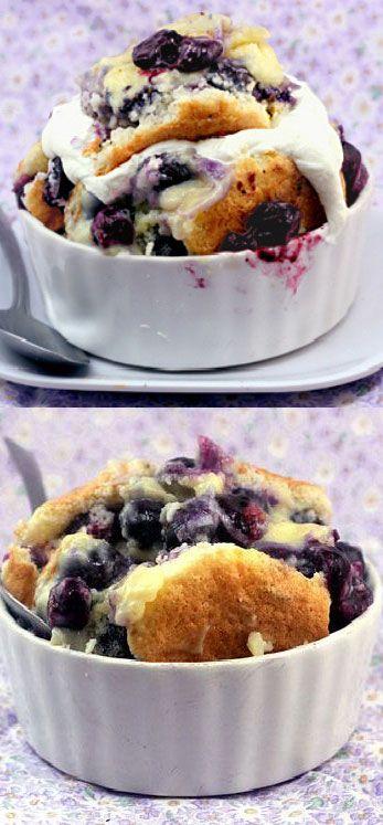 Magic Blueberry Pudding Cake