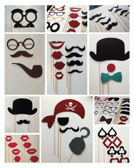 Photo booth Time !!! : wedding booth diy feltlips fun mustaches photo reception wedding Photo Booth Props E1299433803633