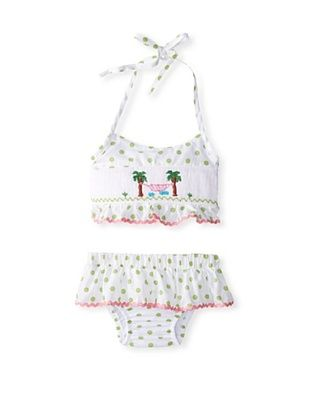 58% OFF Marjorie's Daughter Baby 2 Piece Palm Tree Swimsuit (White Multi)