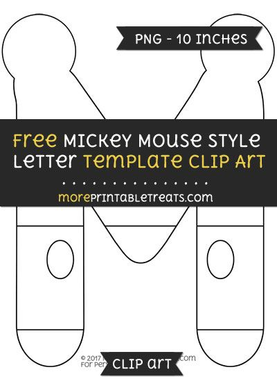 free mickey mouse style letter m template clipart mickey mouse party printables pinterest mickey mouse mickey mouse clubhouse and mickey mouse