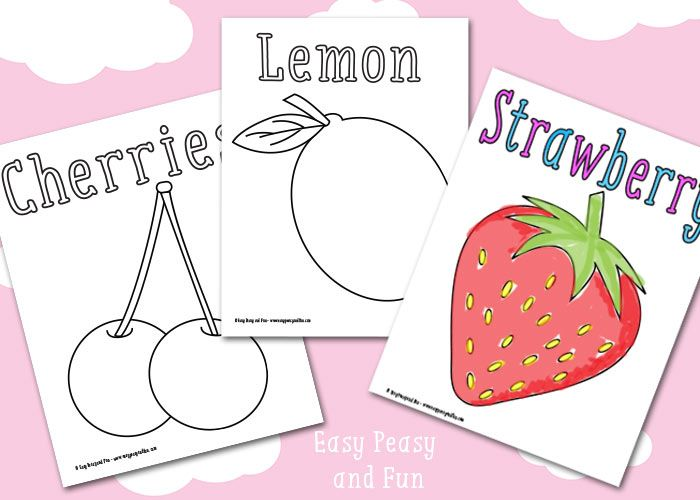 summer fruit coloring pages - fruit coloring pages free printable easy peasy and fun