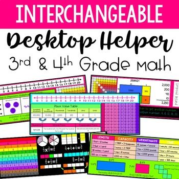 Give your students content specific name plates or desktop helpers that are directly related to the topics you are teaching in math.