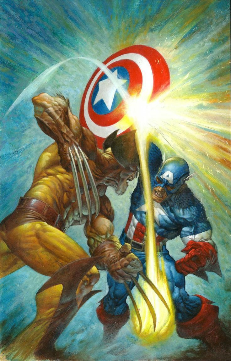 Wolverine vs Captain Ametica