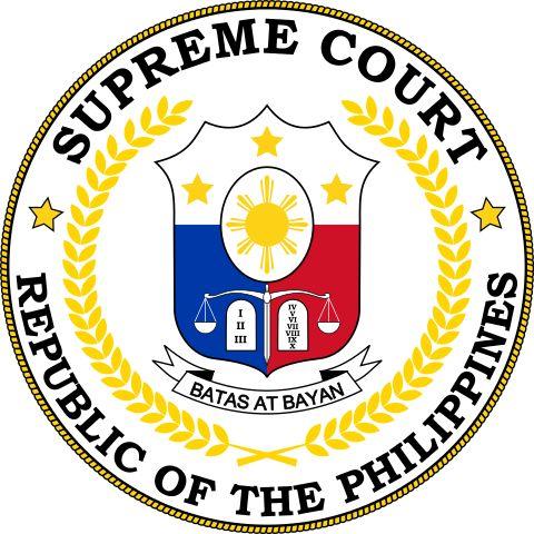 Brasão da Suprema Corte das Filipinas. Seal of the Supreme Court of the Philippines.