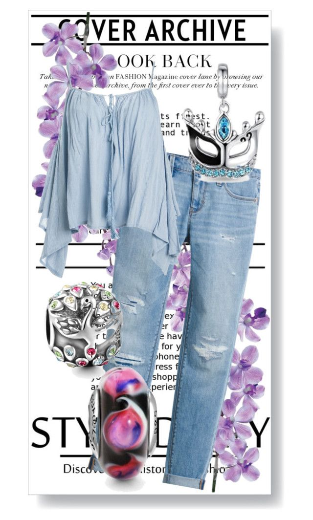"""""""Jeans + lavanda"""" by mayravaz ❤ liked on Polyvore featuring White House Black Market, Sans Souci and Laura Cole"""
