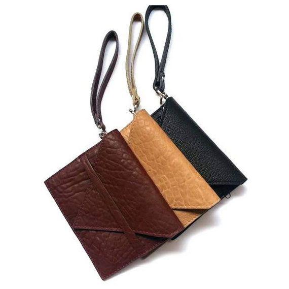 Leather Keychain Wallet Keychain Credit Card Wallet by GanzaDesign