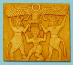 "Gilgamesh tablet, with the prince between two gods - The epic seems to be rooted in history, though its incidents are certainly legendary.  The Sumerian King List, which names most of the Sumerian kings together with the lengths of their rule form the beginning ""after kingship has descended from heaven"" to the end of the third millennium, includes Gilgamesh as the fifth king of Uruk (biblical Erech)."