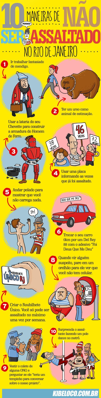 TOP KIBE LOCO: Maneiras de não ser assaltado no RJ