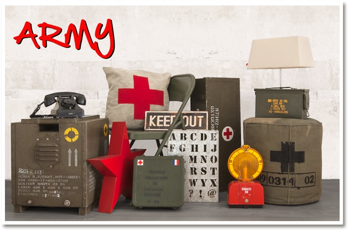Lots of original Army stuff in our shop.