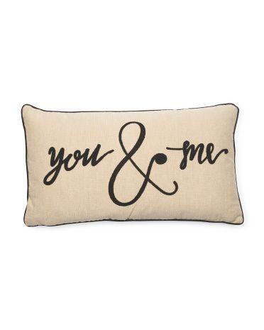 14x26 You & Me Pillow - Decorative Pillows - T.J.Maxx