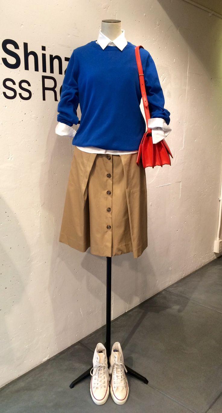 2015 S/S Maison Martin Margiela knit THE SHINZONE army skirt Maison Martin Margiela bag