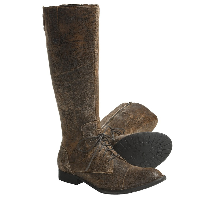 Crown by Born Gilmore Boots - Leather (For Women) in Brown Textured