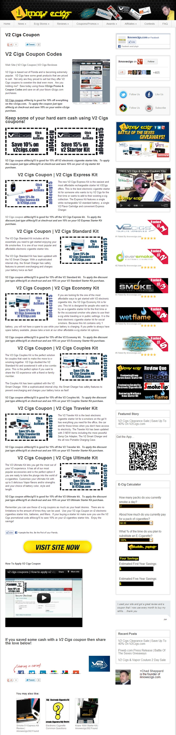 Best V2 Cigs Coupons >> V2 Cigs Coupon --> http://iknowecigs.com/electronic-cigarette-coupon-promo-codes-discounts-e-cigarette/v2cigs-coupon