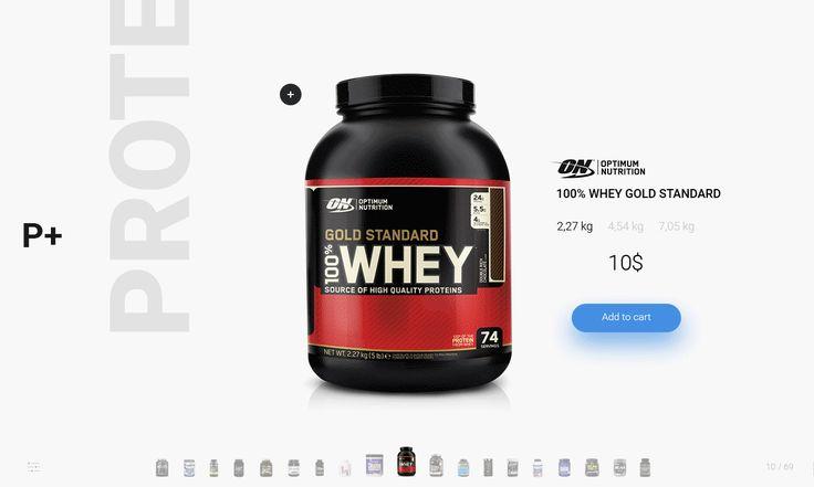 Sport nutrition store concept. #Be #behance #web #website #design #UI #UX #site #webdesign  #ecommerce #gif #animation
