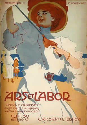 Marcello Dudovich, Ars et Labor front cover, 1907