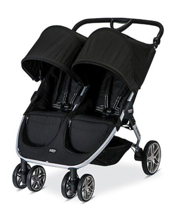 The Britax B-agile double stroller is made for an infant and a toddle or two toddlers. It is a side by side stroller that features independently reclining seats