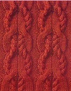 Charted cable stitch. 32 row repeat.