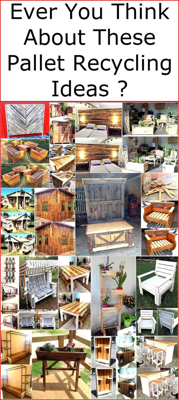 There are many ideas of creating impressive items with the wood pallets and we have shown you hundreds of ideas, but the creative ideas we are going to show you now are the ones we are sure you have not seen before. There is no limit of recycling wood pallet ideas and a person can create almost everything for his/her home reusing the wood pallets, just a creative mind and innovative ideas are required for this. The wall art can also be done using the used wood pallets and it will not look…