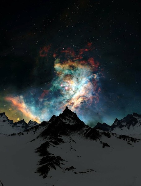 northern lights.. is this real life? no its not but real life is almost more awesome