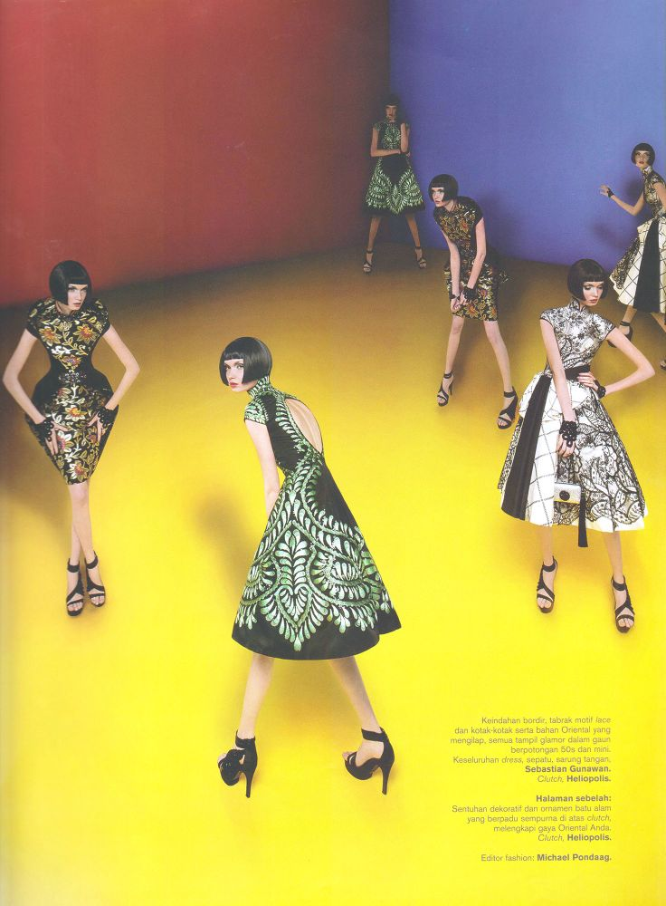 Sebastian Gunawan Couture - Chinoi serie Harper's Bazaar Indonesia  1st edition 2011 Photographer - Adi Nugroho Digital imaging - Angelia Tjong