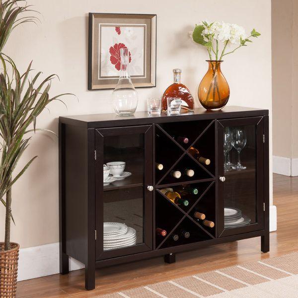 K & B Espresso Finish Wine Rack - Overstock Shopping - Great Deals on Wine Racks