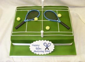 Tennis grooms cake idea