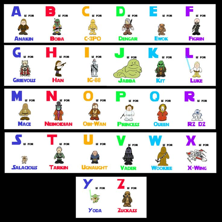Relativ 61 best Star Wars A B C images on Pinterest | Abcs, Photos and  OP48