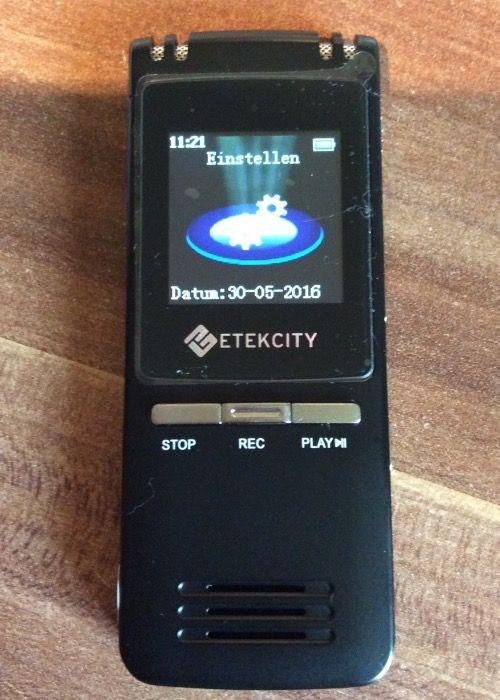 Etekcity - 8GB Digitales Diktiergerät