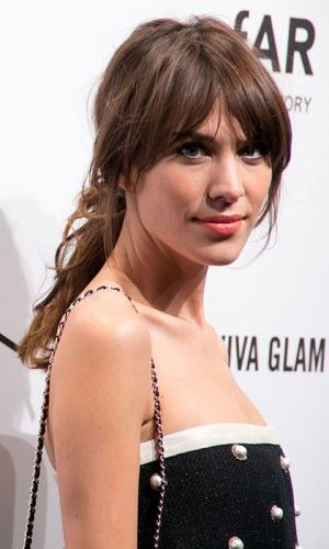 Alexa Chung works a fuss-free ponytail hairstyle
