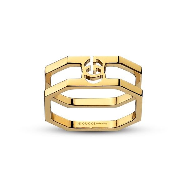 Fancy Gucci Running G Yellow Gold Ring