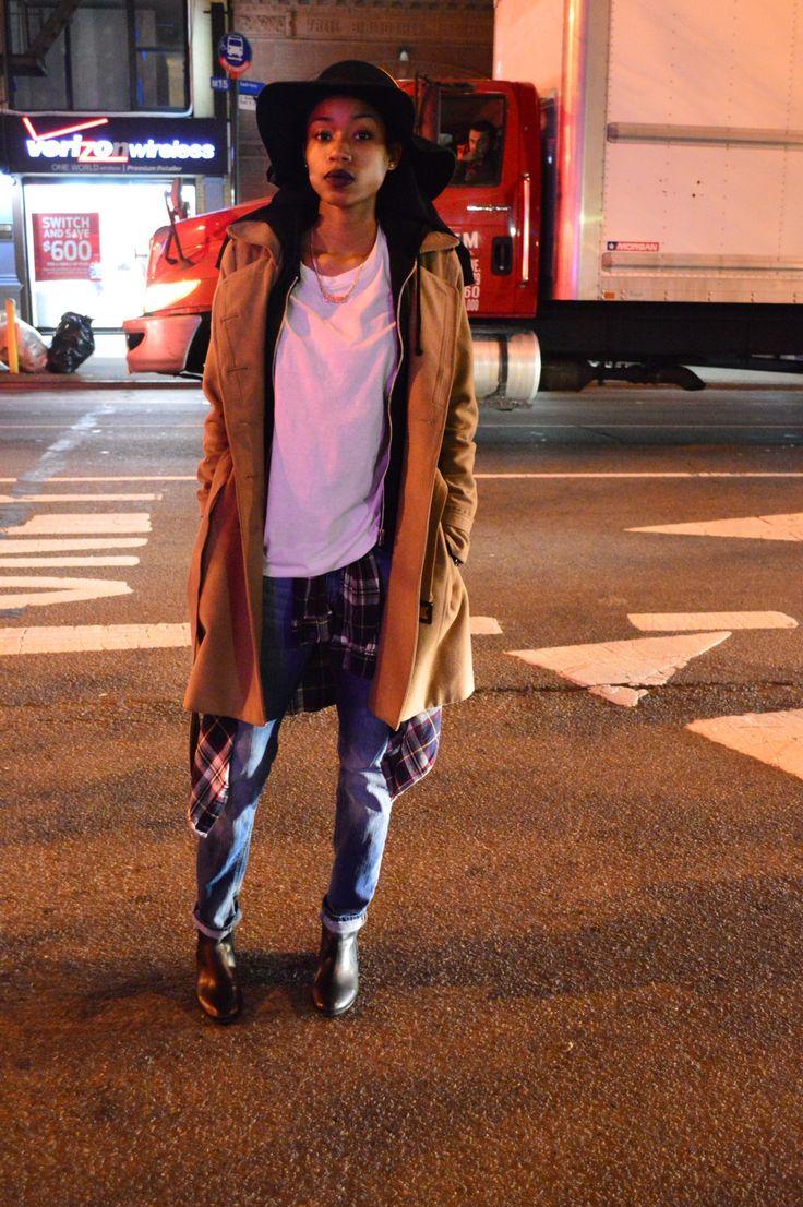 Love this super dope chill look.  ----------------- Coat: H&M Shoes:Forever 21 boyfriend jeans: H&M @l0velysurprise