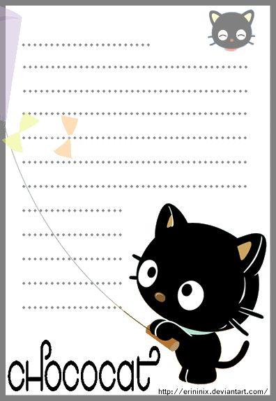 Chococat Stationery by eRininix on deviantART