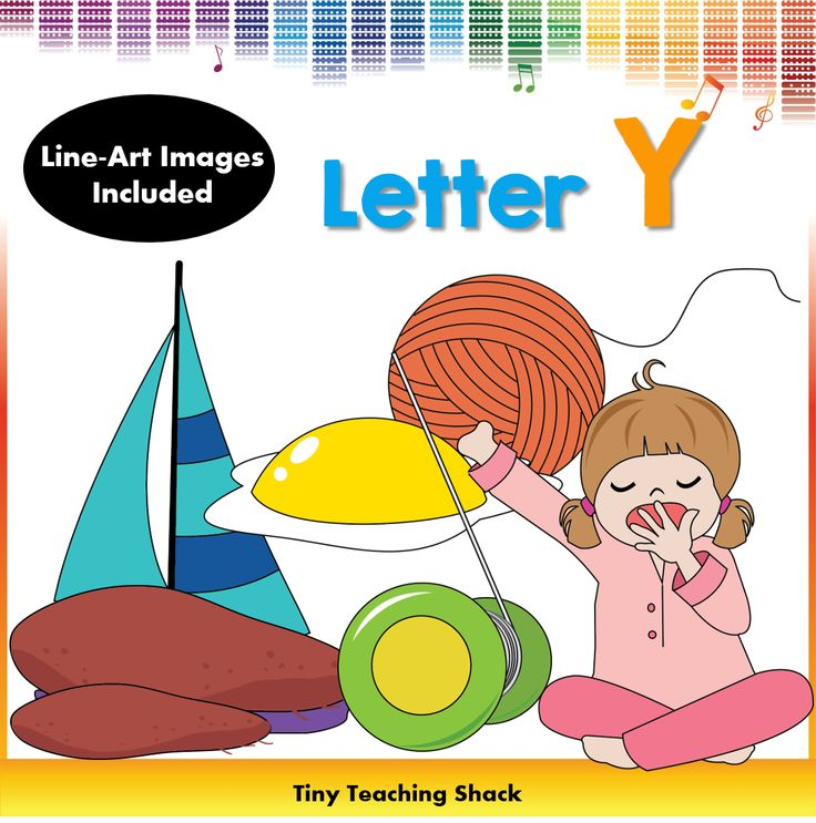 phonics clipart- beginning sound Y