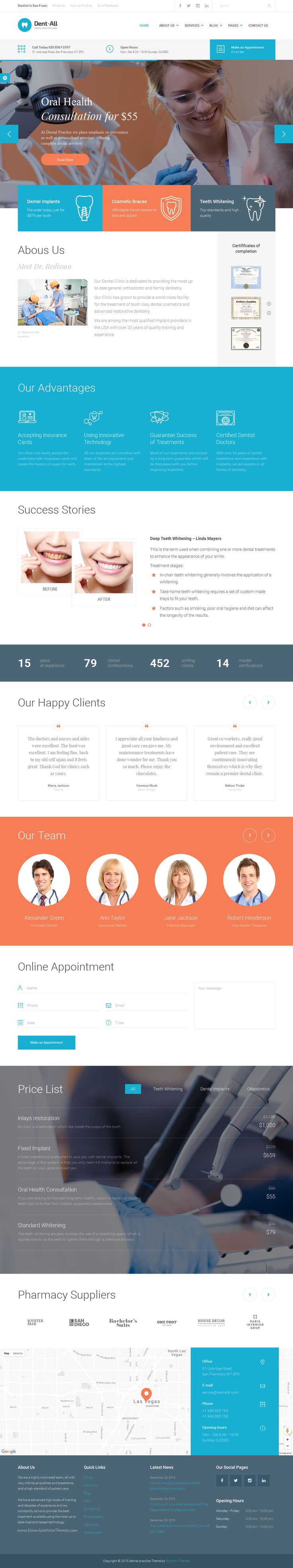 Dent-All is the only WordPress theme you need for Dental practice business. Dent-All has everything You need for a successful #website of your clinic, hospital or for a personal #dentist' website.