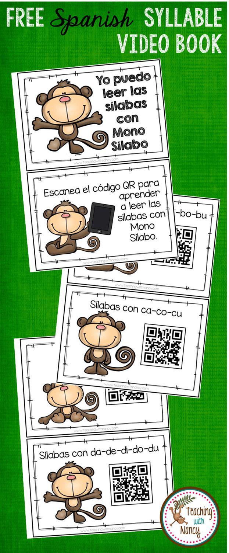 FREE Spanish: Sílabas con el Mono Sílabo