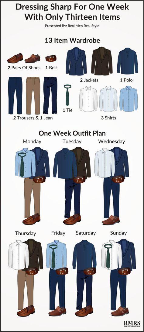 Comment s'habiller ultra-classe pendant une semaine avec seulement 13 vêtements et accessoires #lifestyle #look #trader
