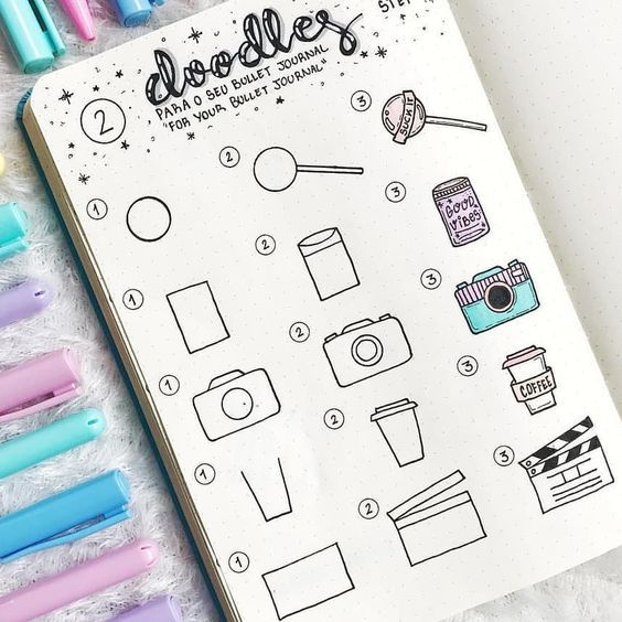 36 Easy Doodles You Can Simply Copy in Your Bullet Journal